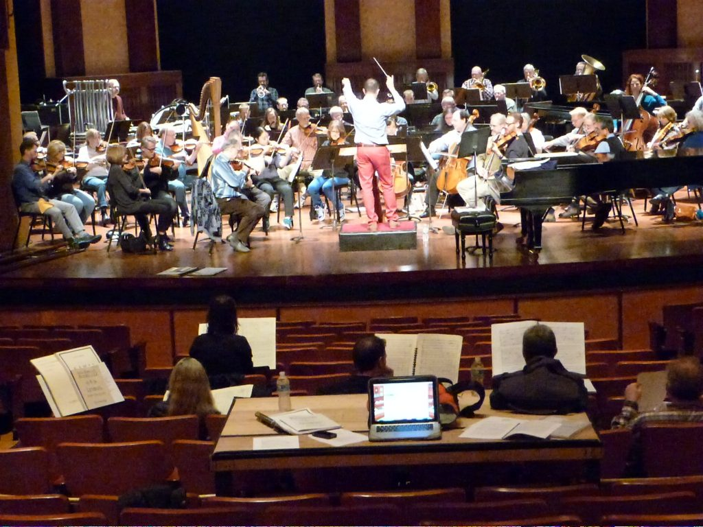 Naples Philharmonic reading works by American composers at the JCOI Earshot Reading