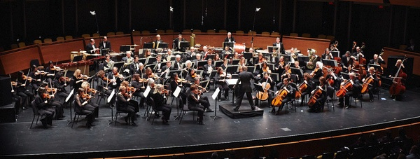 Wide shot of the American Composers Orchestra