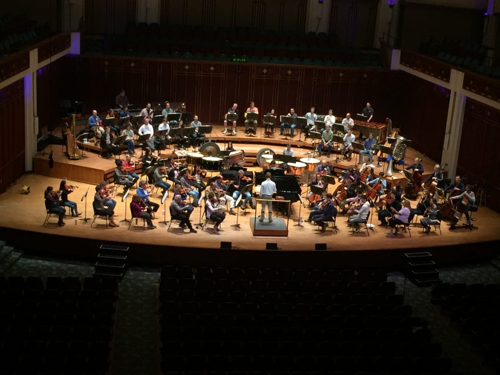 The Jacksonville Symphony Orchestra reading new music by American composers